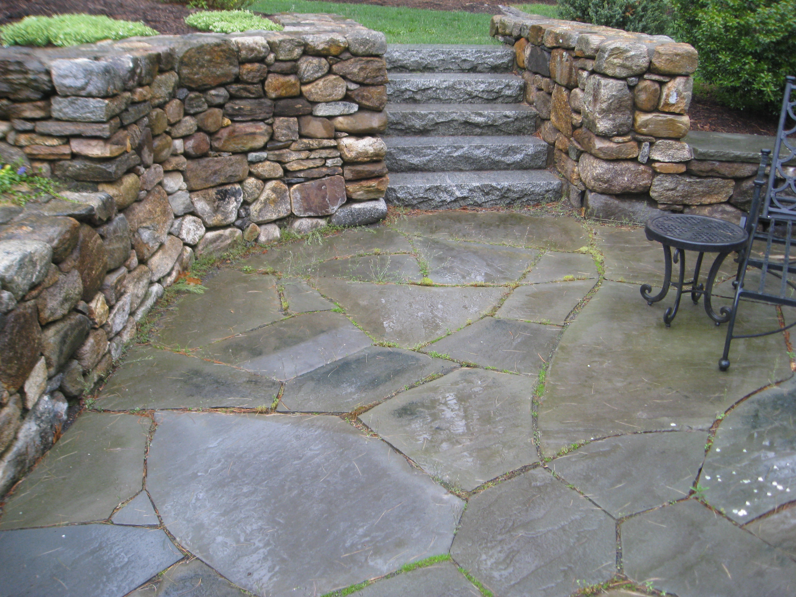 Broken Bluestone Patio K G W Services